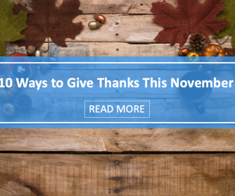 10 Ways to Give Thanks This November