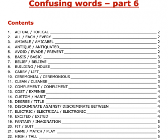 Confusing Words - Part 6