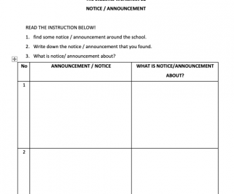 What Is a Notice Worksheet