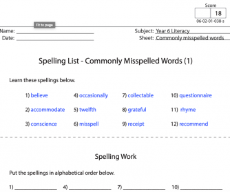 Commonly Misspelled Words 1