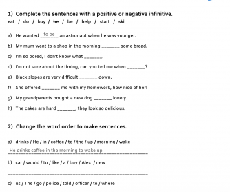 Full Infinitive After Adjectives, Question Words, and To Give Reason