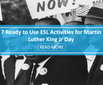 7 Ready to Use ESL Activities for Martin Luther King Day