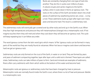 Science Resource - The Rock Cycle