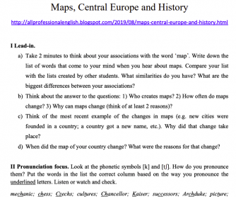 History - Changing Map of Central Europe