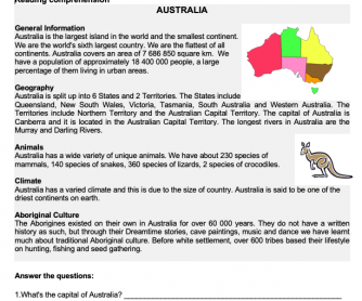 Australia (Reading Comprehension)