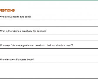 Quiz Questions - Macbeth