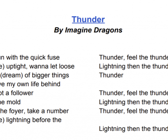 Thunder & the Past Continuous