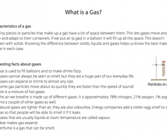 What Is A Gas? (Science Resource)