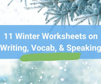 Winter Worksheets, Vocab, & Activities