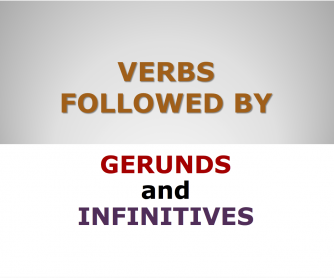 Verbs Followed by Gerund and Infinitive