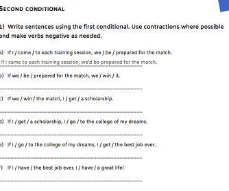 Second Conditional - Would, Could, And Comparison With The First Conditional
