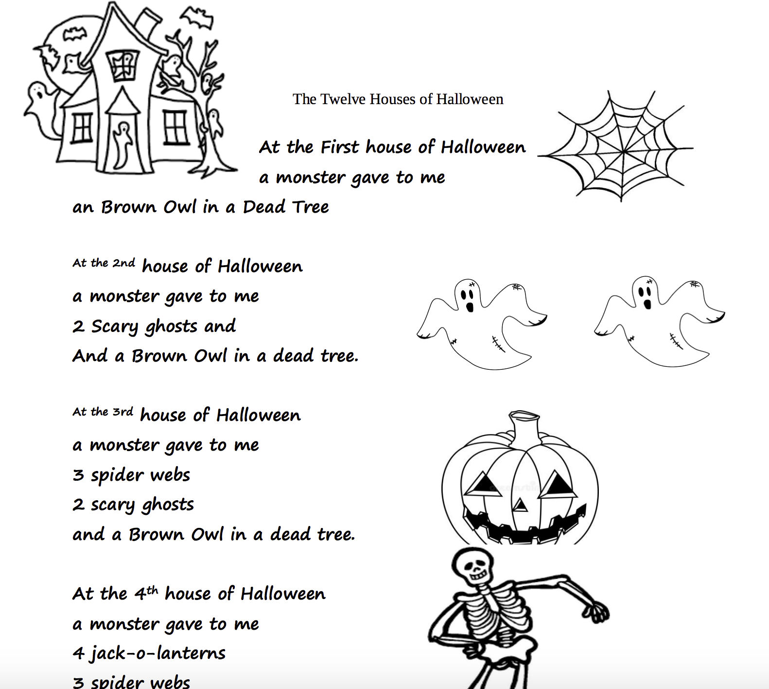 214 Free Halloween Worksheets