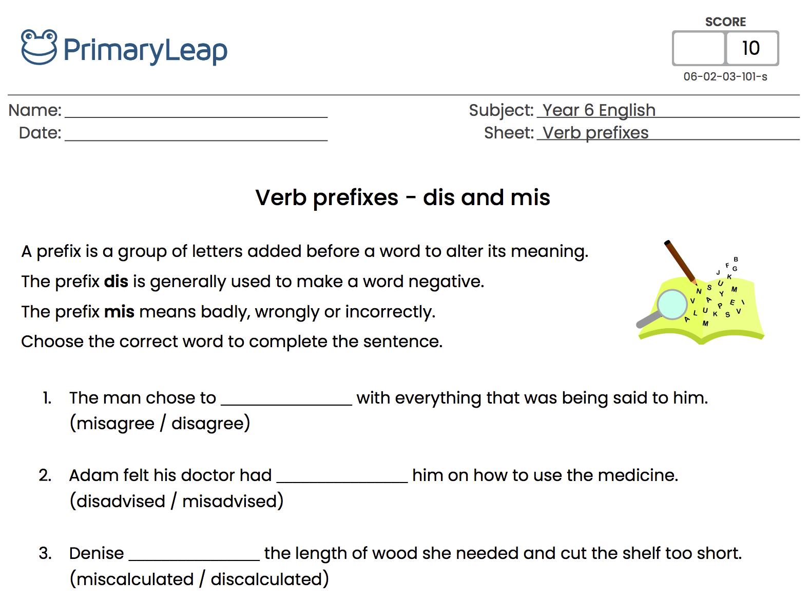 96 Free Prefixes Suffixes Worksheets [ 1172 x 1576 Pixel ]