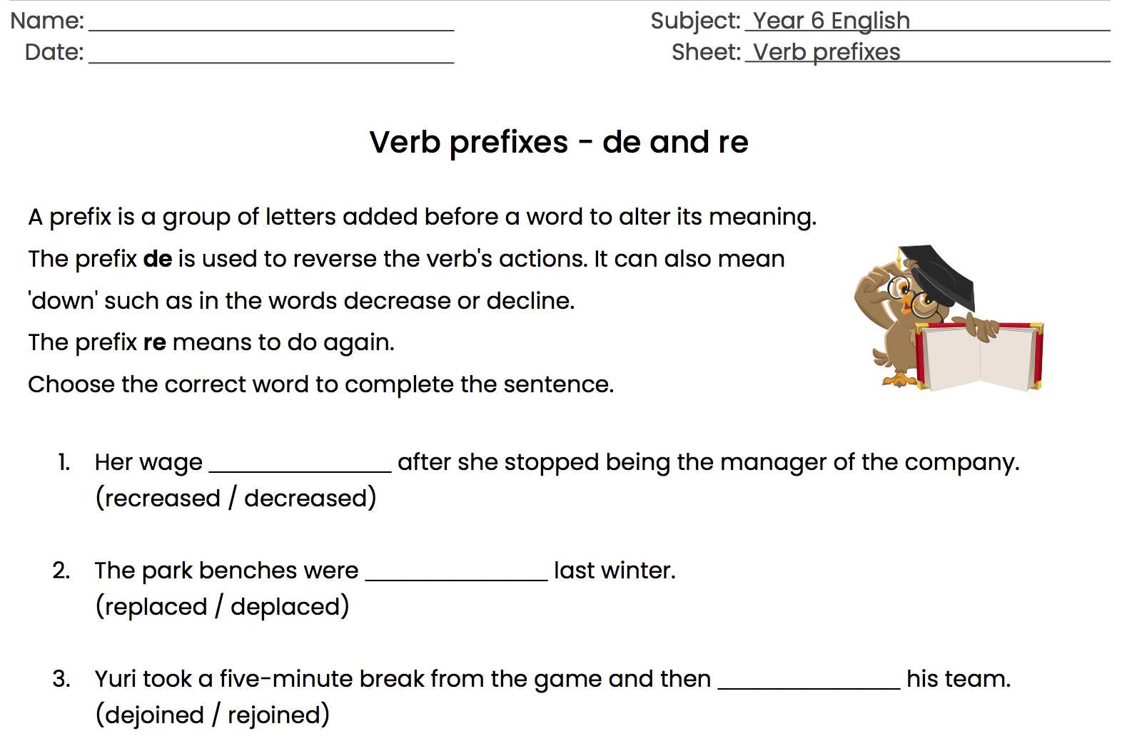 96 Free Prefixes Suffixes Worksheets [ 1046 x 1572 Pixel ]