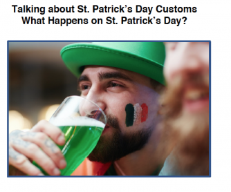 St.Patrick's Day Traditions