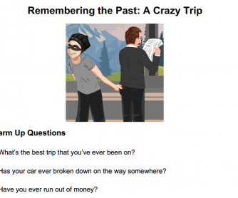 A Crazy Trip: Past Tense Storytelling