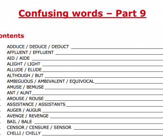 Confusing words – Part 9
