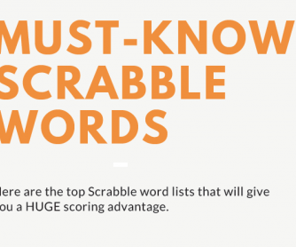 Must-Know Scrabble Word Lists