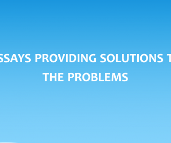 Essays: Providing solutions to problems