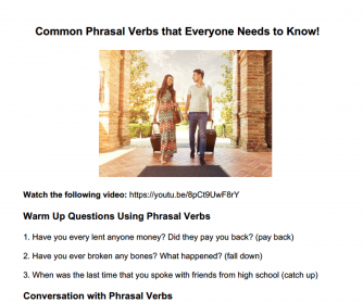 33 Common Phrasal Verbs Students Must Know