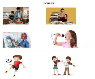 Hobbies Worksheet for Pre-schoolers