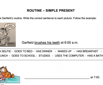 Routine – Simple Present