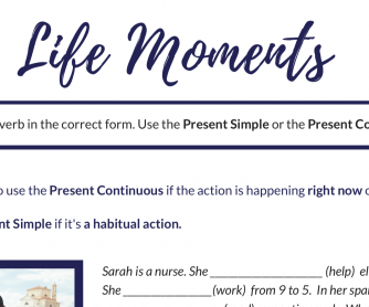 Present Simple or Present Continuous Exercise