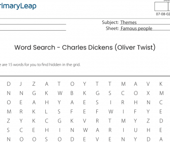 Word Search Activity - Charles Dickens