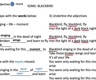 Power Point Song – Blackbird By Paul McCartney