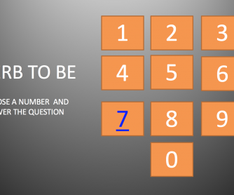 'TO BE' AFFIRMATVE MULTIPLE CHOICE GAME