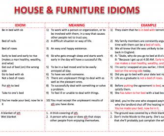 House & Furniture Idioms
