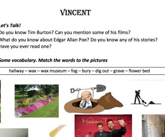 Vincent By Tim Burton Movie Worksheet