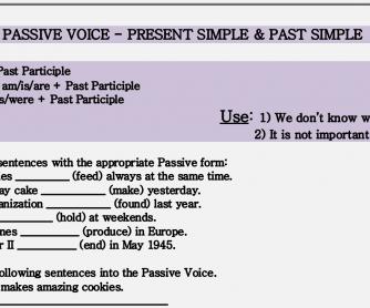 Passive Voice – Present Simple & Past Simple Worksheet