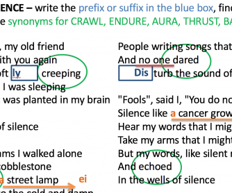 PowerPoint: Song – The Sound of Silence
