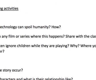 Zero Hour (Ray Bradbury) Reading activities