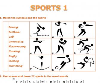 Sports Vocabulary Worksheet