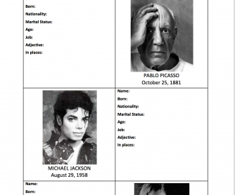 Celebrities from the past: Using Verbs