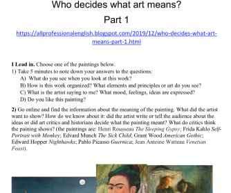 Who decides what art really means?