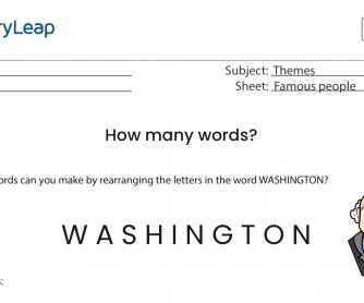 Washington – How many words?