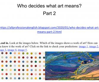 Who decides what art means? Part 2