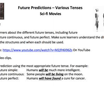 Future Predictions Video Activity – Mixed Tenses