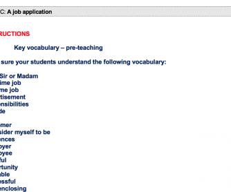 A Job Application