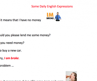 Some Daily English Expressions