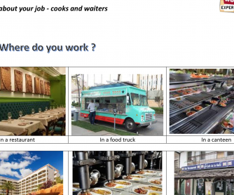 Talking about your job – Cooks and Waiters