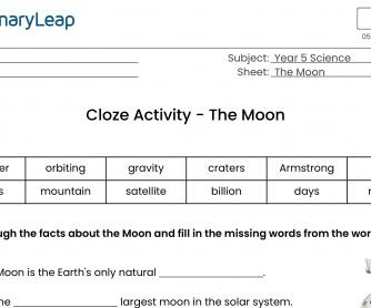 The Moon Cloze Activity