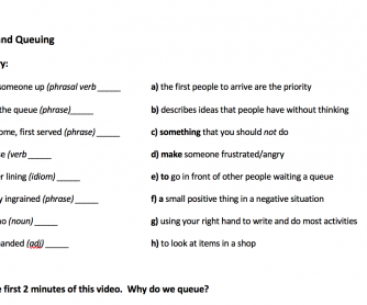 Queues and Queuing (video worksheet)