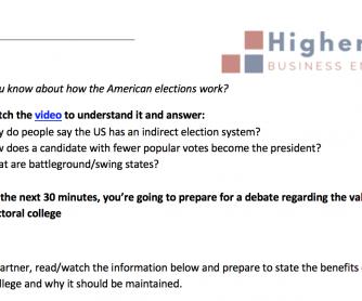 American Elections Debate
