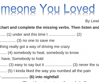 Song worksheet: Someone You Loved
