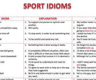 Sport Idioms