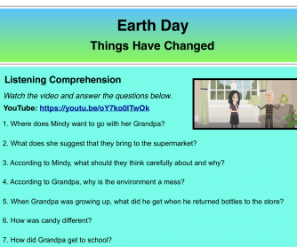 Earth Day – Then & Now
